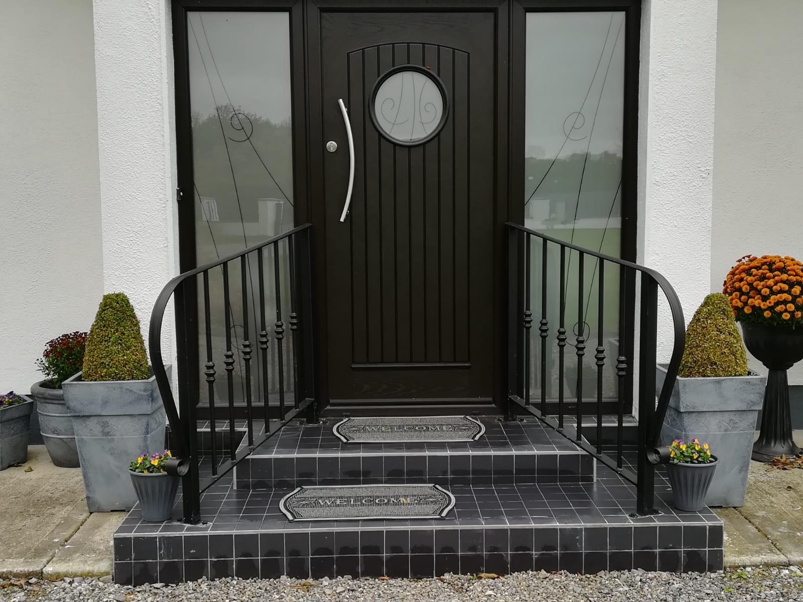 Front Entrance Handrail E3d Steel Design Ltd